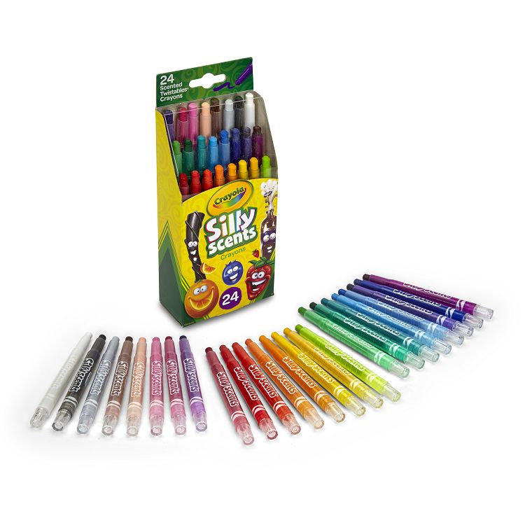 Crayola繪兒樂 白日夢趣味迷你旋轉蠟筆24色