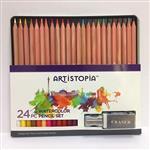 【ARTISTOPIA】24色西達木水性色鉛筆馬口鐵盒