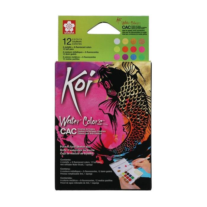 【SAKURA】Koi塊狀水彩特殊色12色組