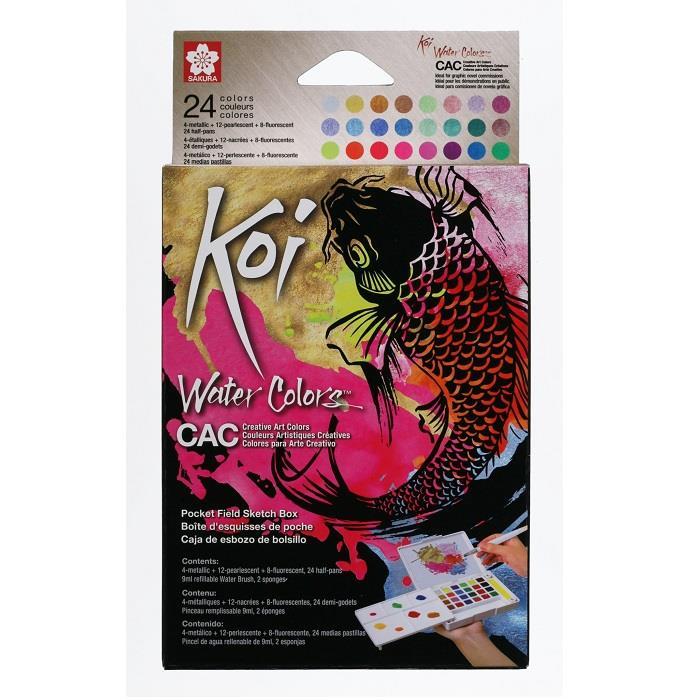 【SAKURA】Koi塊狀水彩特殊色24色組