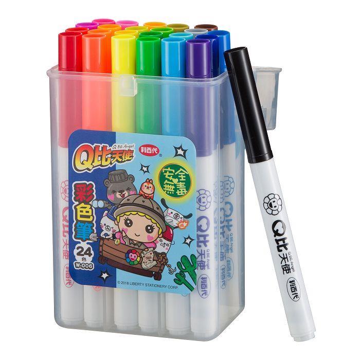 利百代Q比天使彩色筆24色