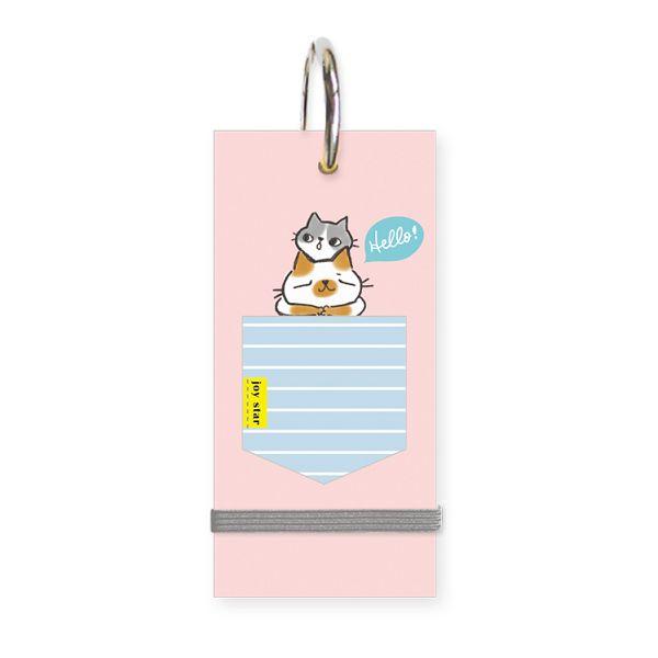 O-cat口袋貓-小單字卡-粉