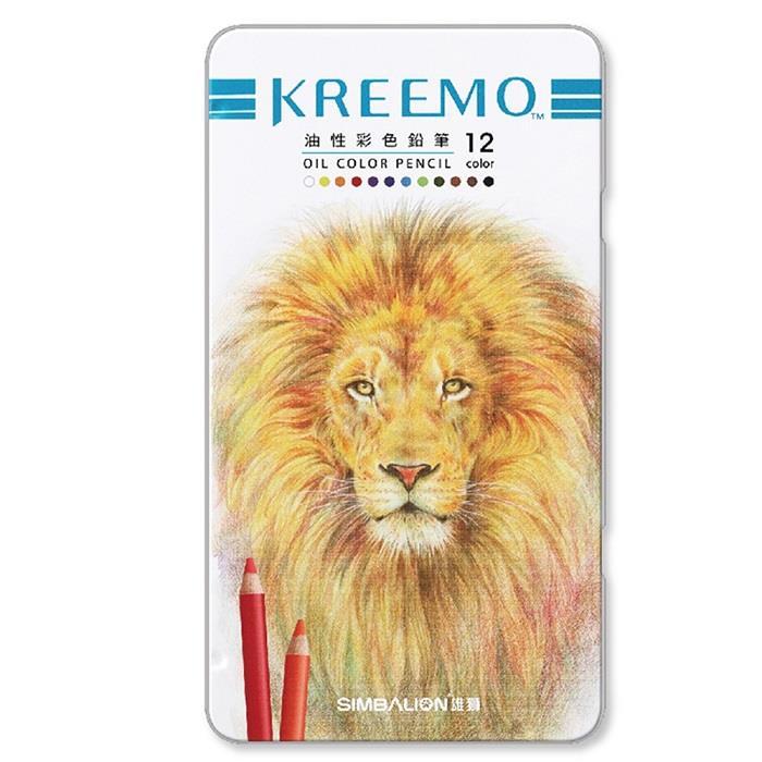 雄獅 KREEMO克里蒙專業油性彩色鉛筆12色