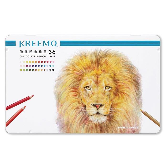 雄獅 KREEMO克里蒙專業油性彩色鉛筆36色