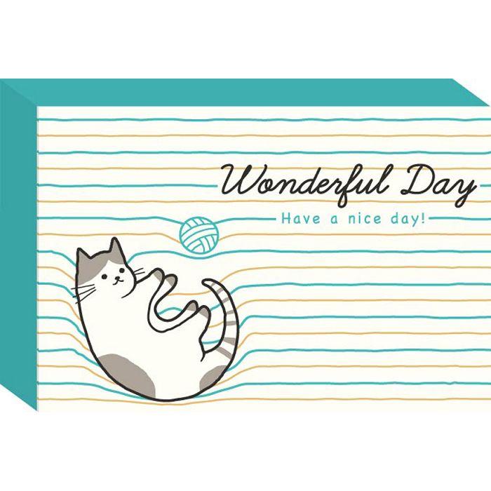 彩色名片卡-藍貓