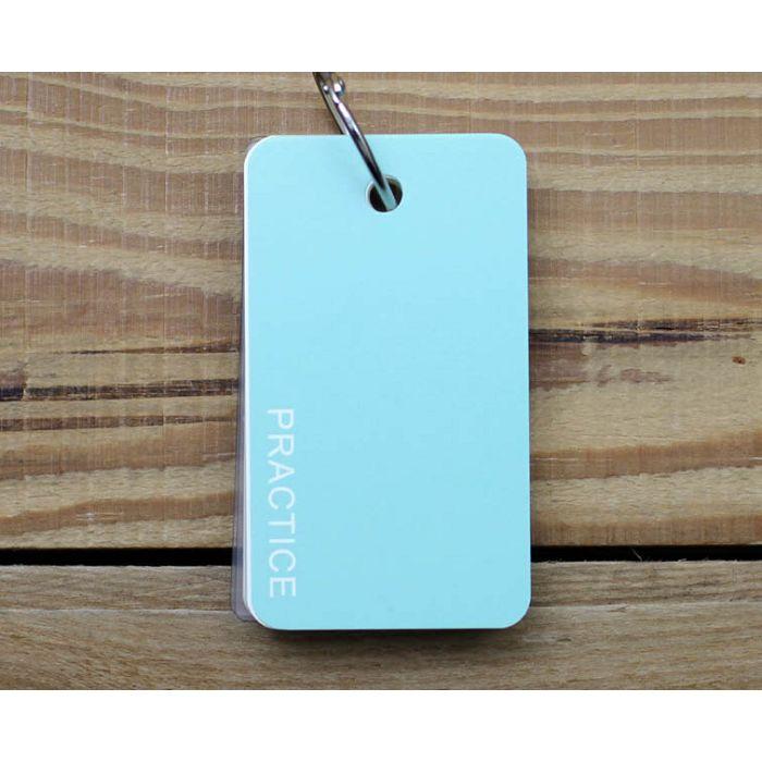 簡單型單字卡(素色藍綠)