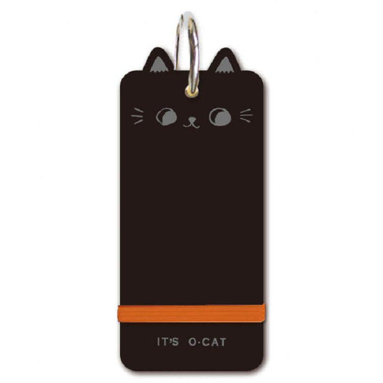 O-Cat貓耳空白PP單字卡-黑
