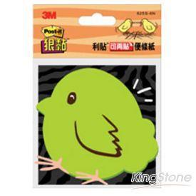 【3M】利貼狠黏造型便條紙-小雞(625S-6N)