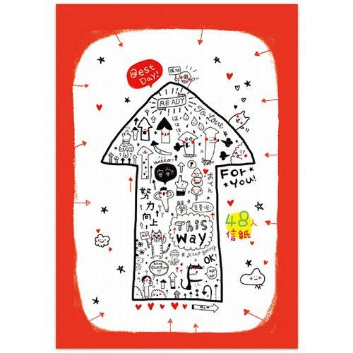 MIMIMAMA 48入信紙-紅