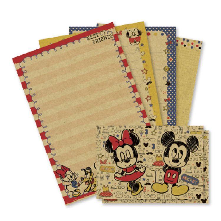 【南寶興】迪士尼32K牛皮紙信套組-米奇