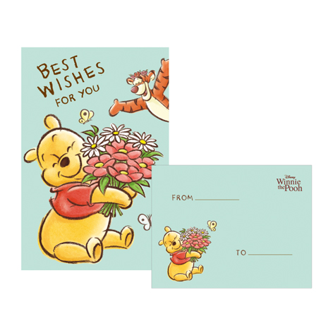 Disney迪士尼42K信紙套-維尼B款