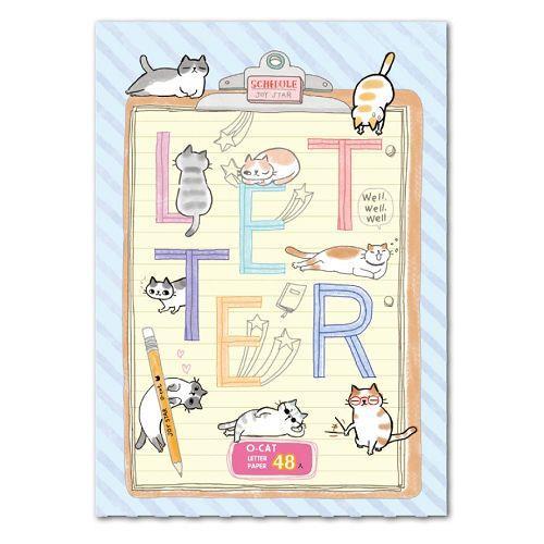 O-Cat 48入信紙-藍