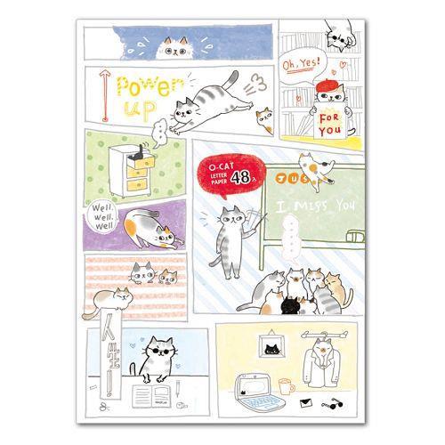 O-Cat 48入信紙-白