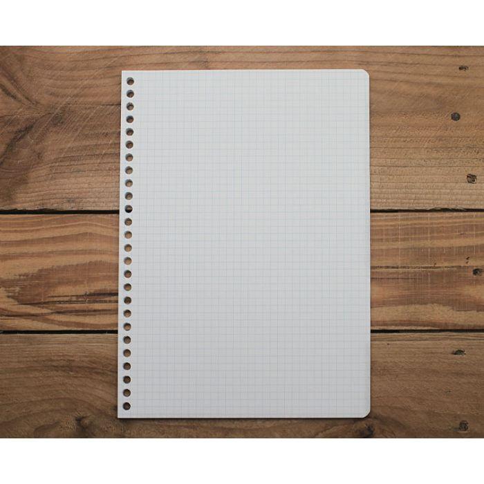 素色方格26孔內頁(淡藍)