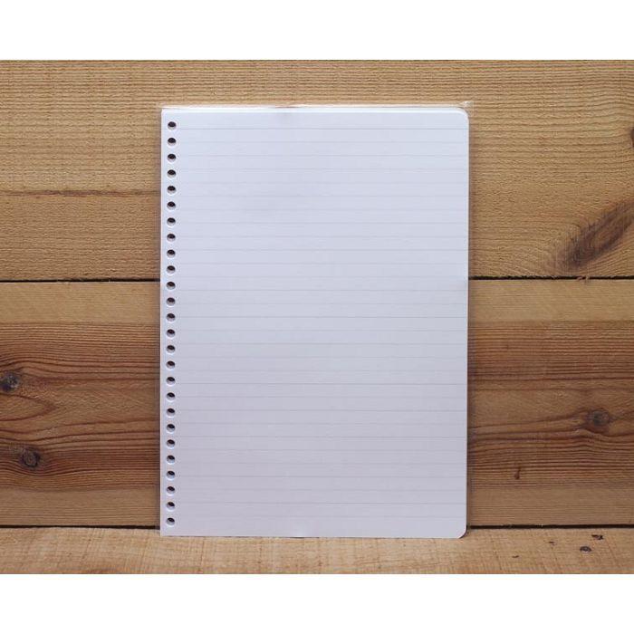 素色橫線26孔內頁(灰綠色)