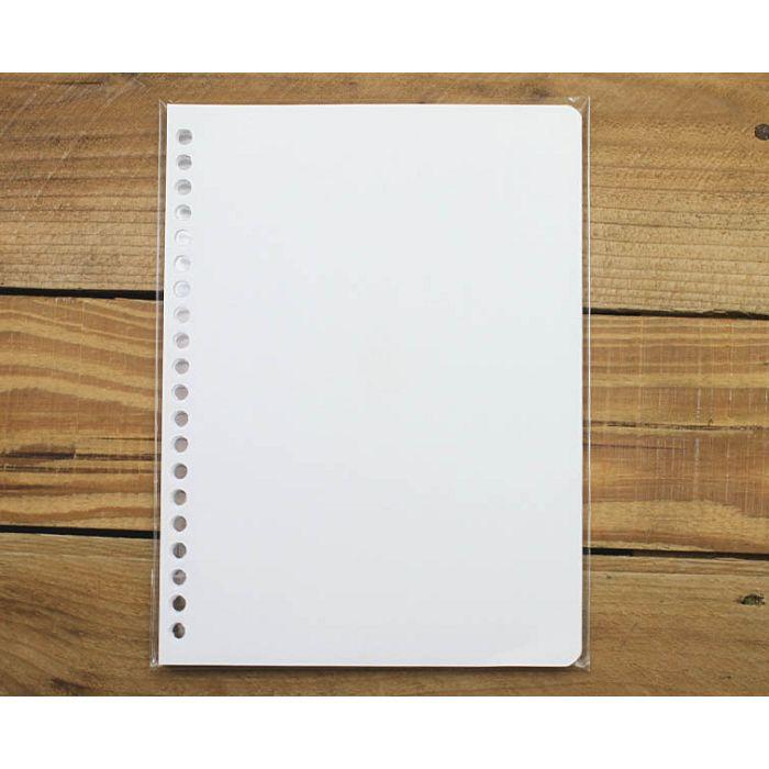 素色20孔活頁紙(空白)