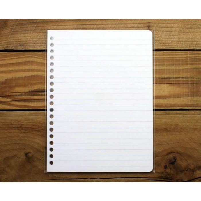 素色20孔活頁紙(海洋藍橫線)