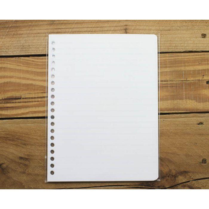 素色20孔活頁紙(淺藍橫線)