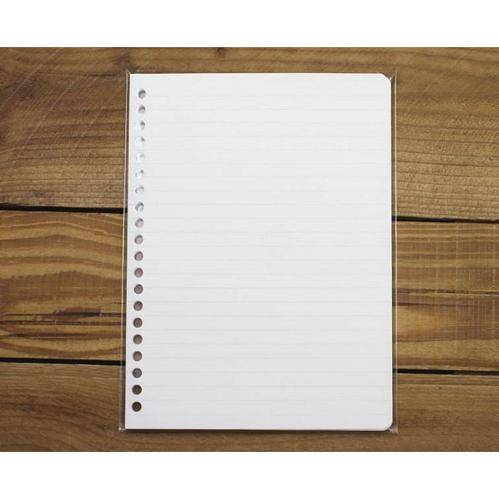 素色20孔活頁紙(藍綠橫線)