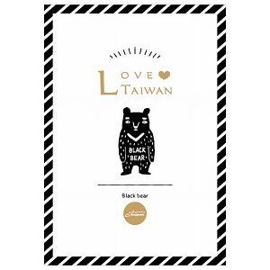 【青青文具】旅行時光--LOVE TAIWAN 明信片(台灣黑熊)