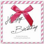 【青青文具】簡單生活--緞帶蝴蝶結(生日)卡片