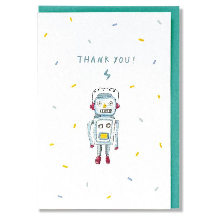 【柏格文具】zakka輕水彩卡 機器人感謝