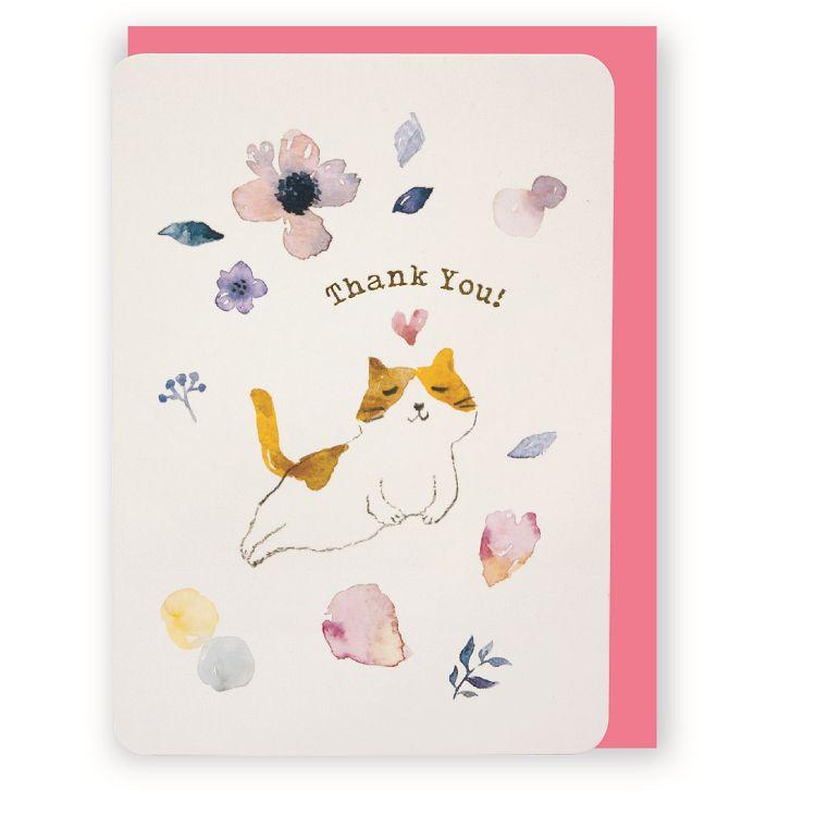 【柏格文具】大大的祝福 水彩卡-貓感恩