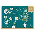 【青青】簡單生活-黑板風萬用卡-生日祝福