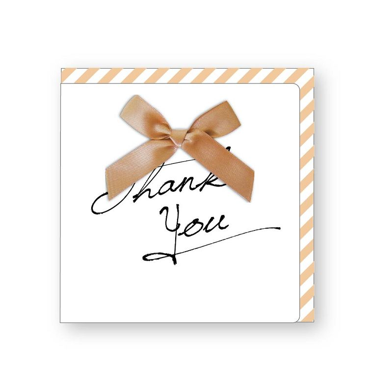 【青青】簡單生活-緞帶蝴蝶結萬用簽名卡-感謝