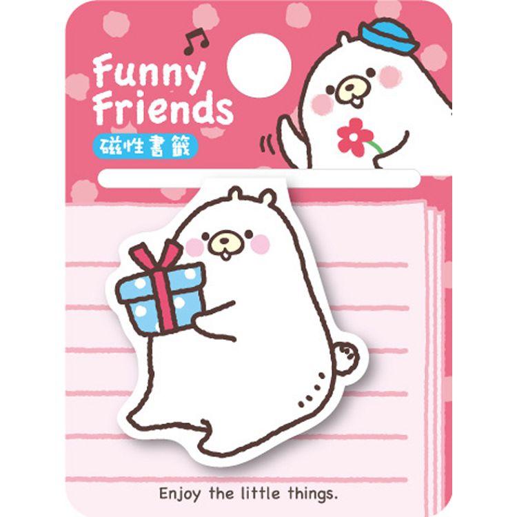 【四季紙品禮品】FF熊-磁性書籤-抱禮