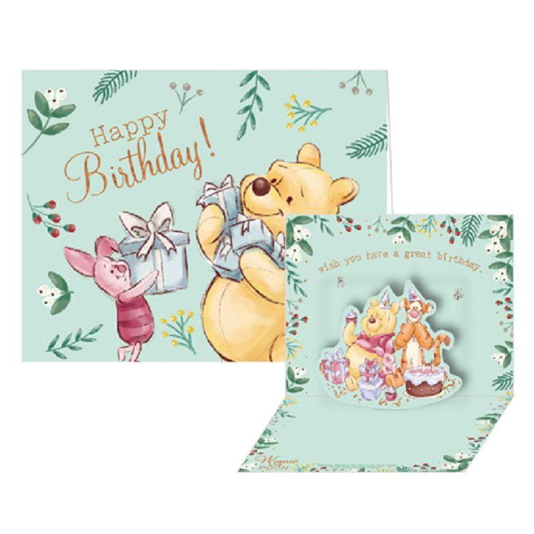 【南寶興】迪士尼立體小卡維尼-Happy Birthday