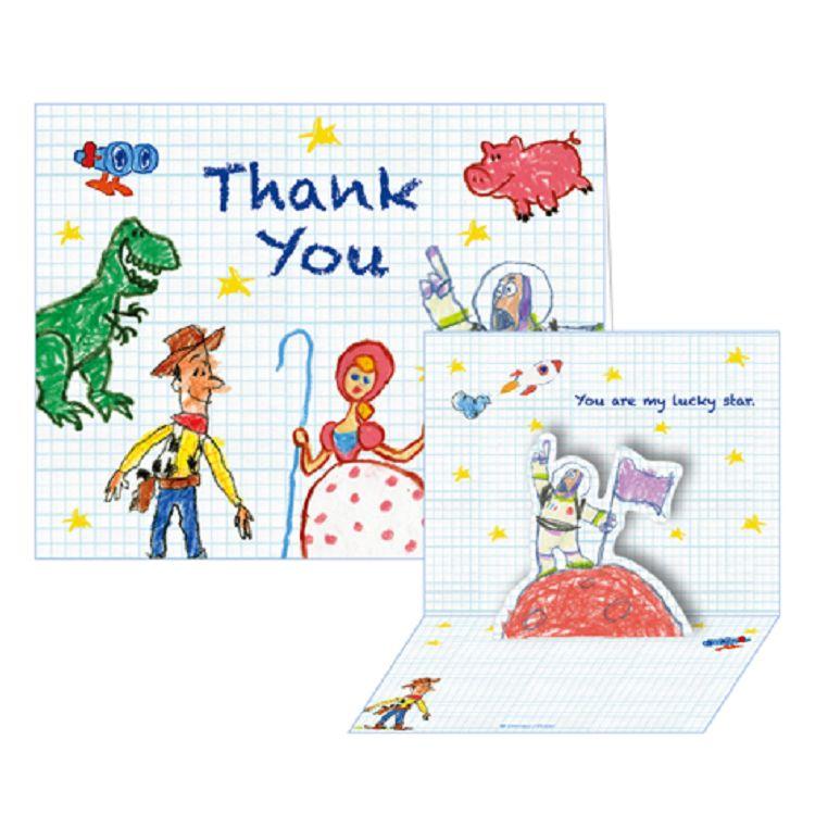 【南寶興】迪士尼立體小卡玩具-Thank you
