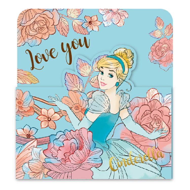 【南寶興】迪士尼3摺卡片-公主藍