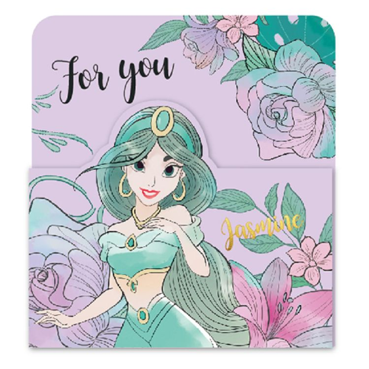 【南寶興】迪士尼3摺卡片-公主紫