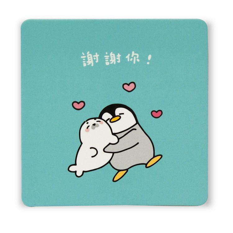 【柏格文具】杯墊卡-企鵝與海豹
