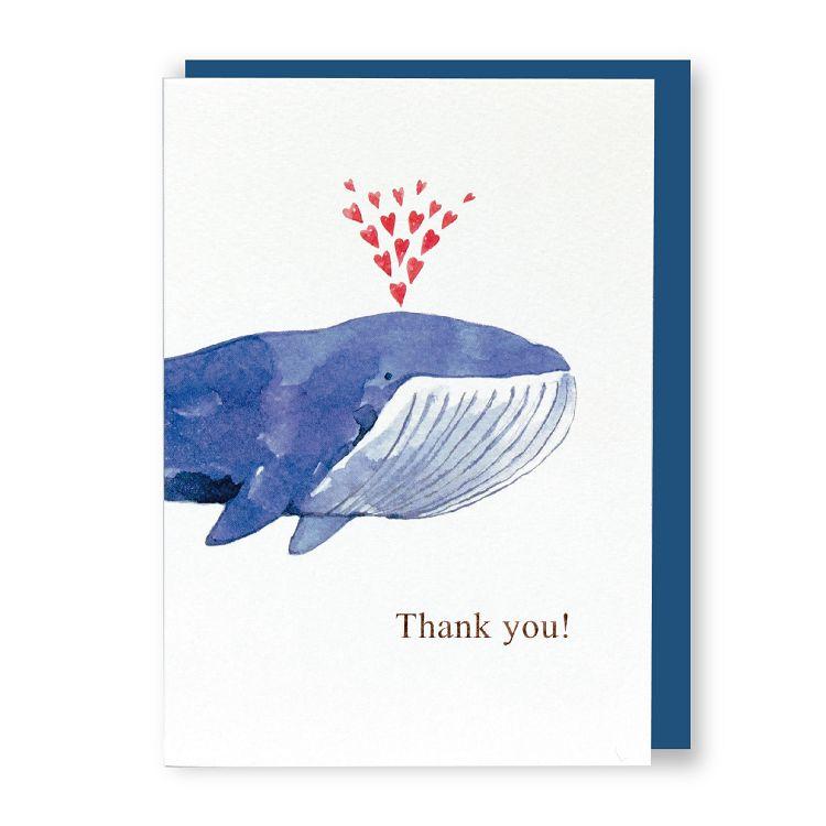 【柏格文具】水彩萬用卡-鯨魚先生
