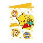 【南寶興】Disney迪士尼A4精裝卡片-維尼黃