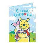 【南寶興】Disney迪士尼A4精裝卡片-維尼和小豬藍