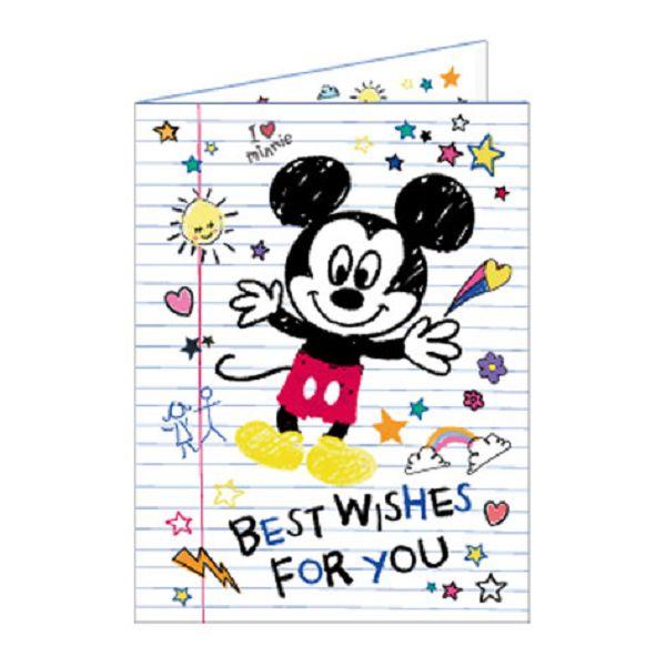 【南寶興】Disney迪士尼A4精裝卡片-米奇