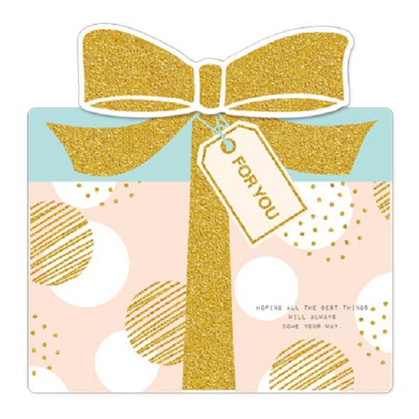 【南寶興】金賀萬用卡-禮物盒粉紅