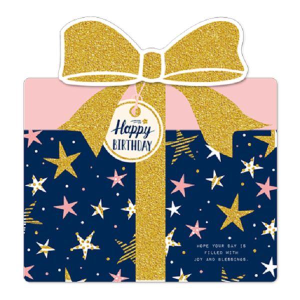 【南寶興】金賀萬用卡-禮物盒藍色
