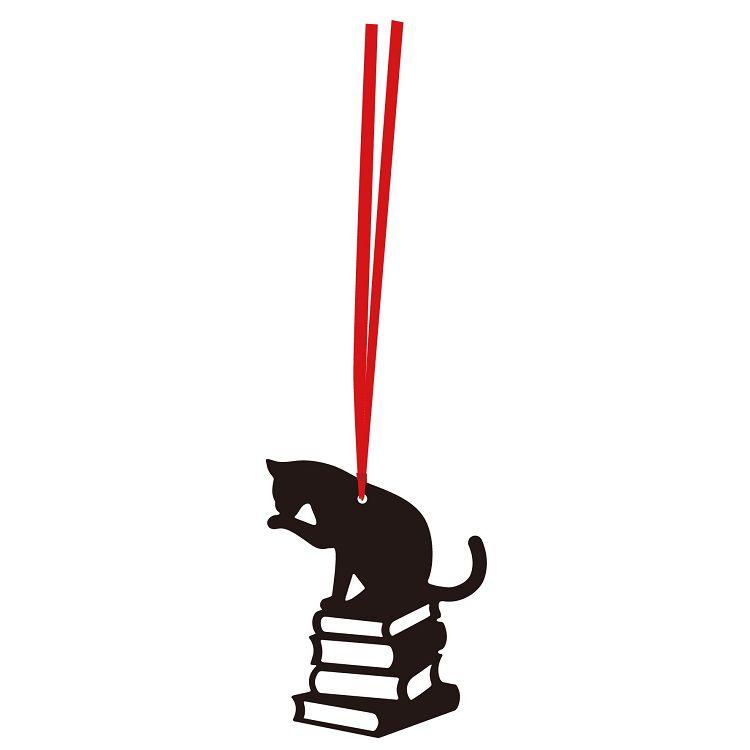 【九達】貓咪剪影書籤-書本
