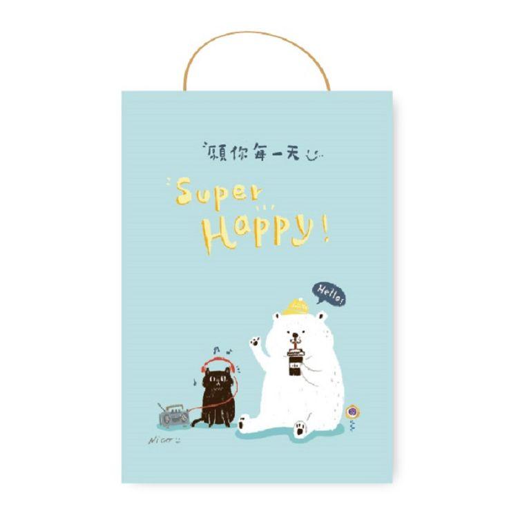 小動物吊繩卡片-白熊