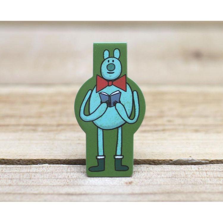 造型磁性書籤(熊超人看書)