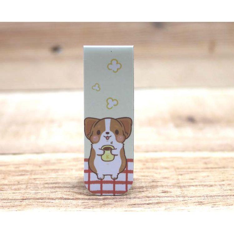 柯基犬卡卡磁性書籤(休息一下)