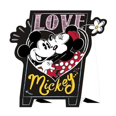 迪士尼站立卡片-米奇米妮
