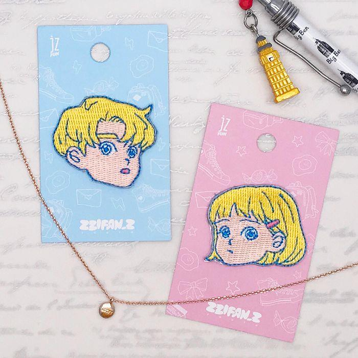 JzFun Zzifan_z刺繡裝飾貼-女高校生