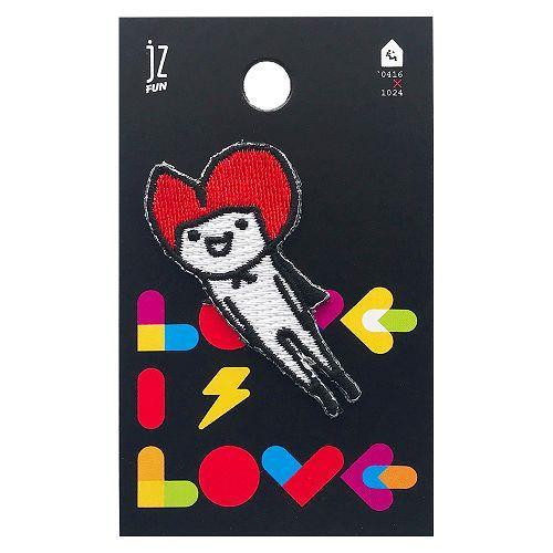JzFun `0416X1024刺繡裝飾貼-LOVE IS LOVE