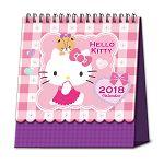 2018立體線圈桌曆-kitty與小熊方格