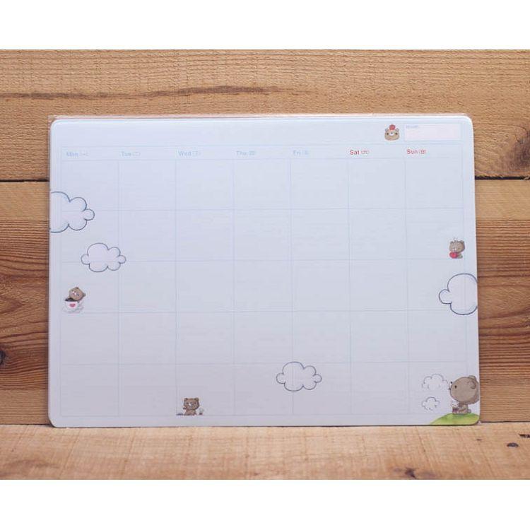 親愛小熊月計畫紙-天空